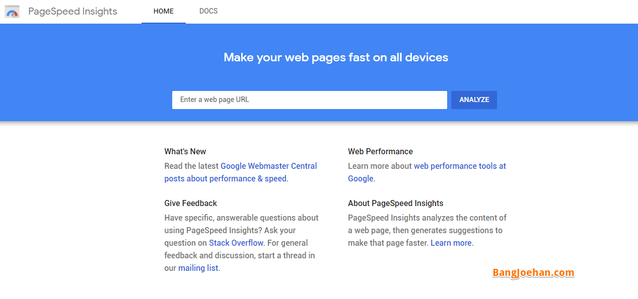 cara Cek kecetan website di google page speed insight